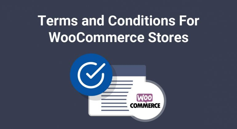 Terms and conditions for woocommerce